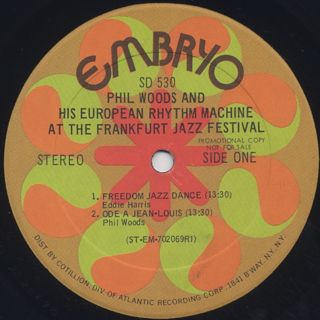 Phil Woods And His European Rhythm Machine / At The Frankfurt Jazz Festival label