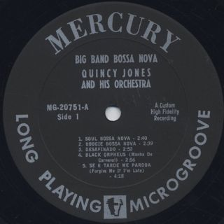 Quincy Jones / Big Band Bossa Nova label