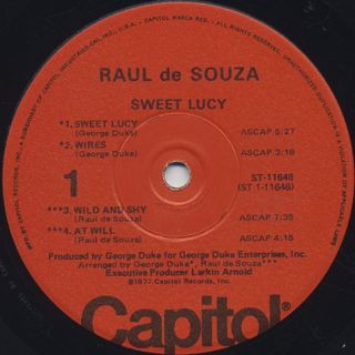 Raul De Souza / Sweet Lucy label