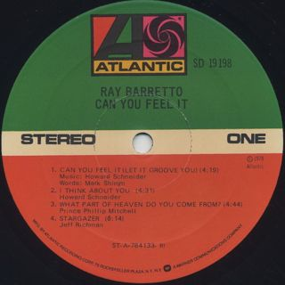 Ray Barretto / Can You Feel It label