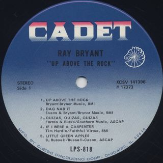 Ray Bryant / Up Above The Rock label