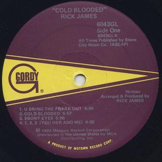 Rick James / Cold Blooded label