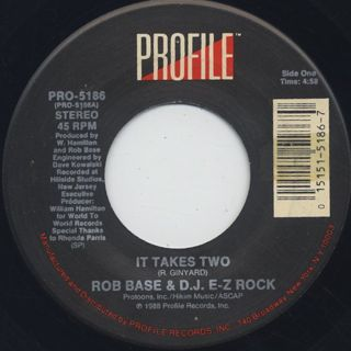 Rob Base & D.J. E-Z Rock / It Takes Two