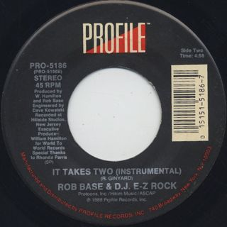 Rob Base & D.J. E-Z Rock / It Takes Two back