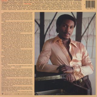 Rodney Franklin / You'll Never Know back
