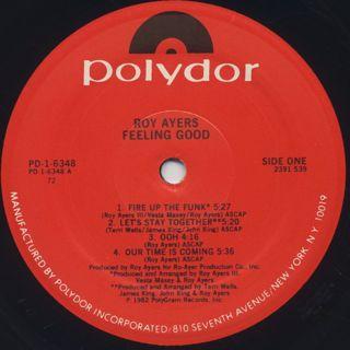 Roy Ayers / Feeling Good label