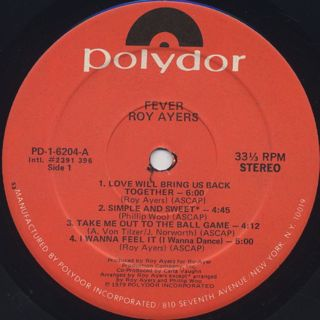 Roy Ayers / Fever label
