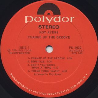 Roy Ayers Ubiquity / Change Up The Groove label