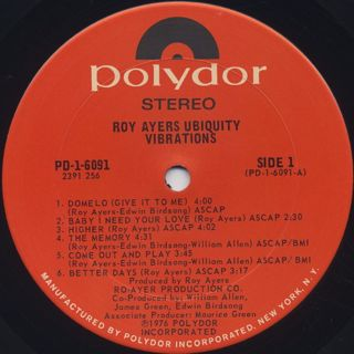 Roy Ayers Ubiquity / Vibrations label
