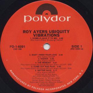 Roy Ayers Ubiquity / Vibrations label