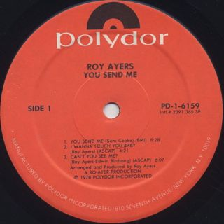 Roy Ayers / You Send Me label