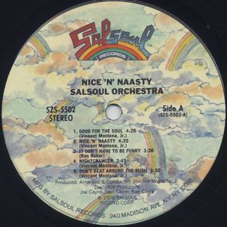 Salsoul Orchestra / Nice 'n' Naasty label