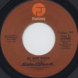 Side Effect / Always There c/w Be Bop Rock back