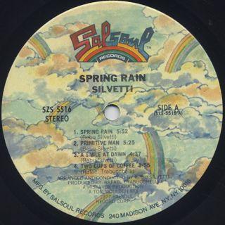 Silvetti / Spring Rain label