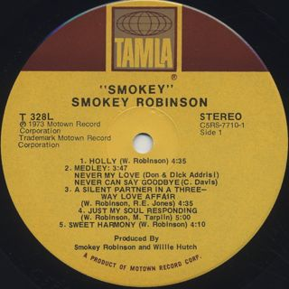 Smokey Robinson / Smokey label