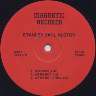 Stanley Earl Alston / Reasons label