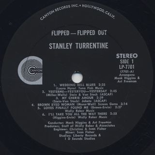 Stanley Turrentine Flipped Flipped Out Lp Canyon