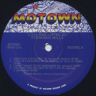 Stephanie Mills / Love Has Lifted Me label