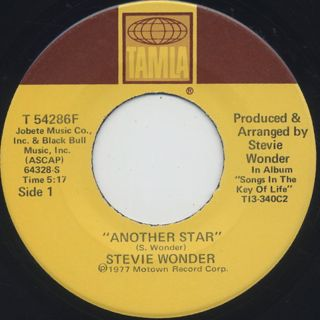 Stevie Wonder / Another Star c/w Creepin'
