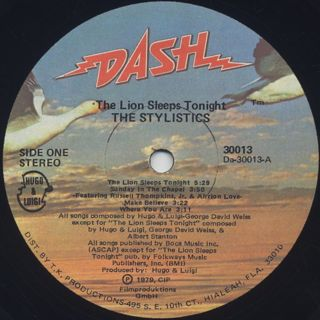 Stylistics / The Lion Sleeps Tonight label