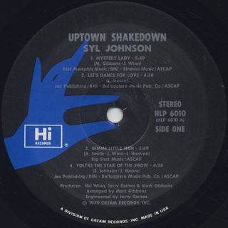 Syl Johnson / Uptown Shakedown label