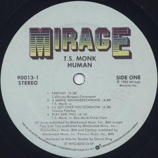 T.S. Monk / Human label