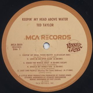 Ted Taylor / Keepin' My Head Above Water label