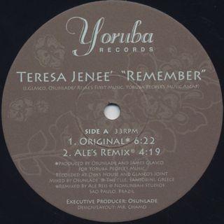 Teresa Jenee' / Remember label
