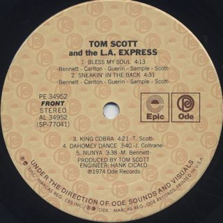 Tom Scott And The L.A. Express / S.T. label