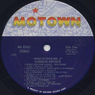 V.A. / Disc-O-Tech #1 label