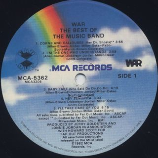 War / The Best Of The Music Band label