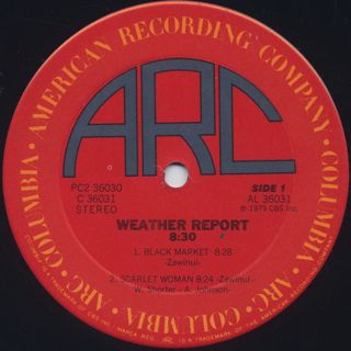 Weather Report / 8:30 label