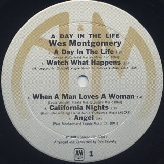 Wes Montgomery / A Day In The Life label