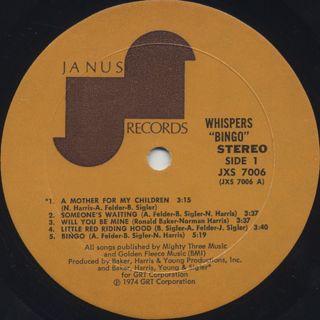 Whispers / Bingo label