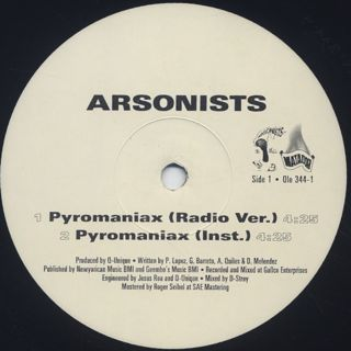 Arsonists / Pyromaniax label