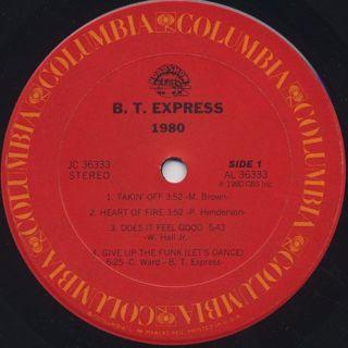 B.T. Express / 1980 label