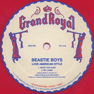 Beastie Boys / Love American Style label