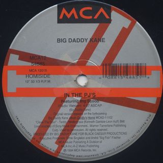 Big Daddy Kane / In The PJ's c/w Show & Prove label