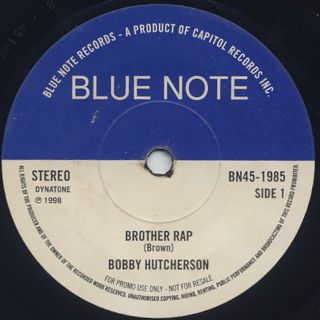 Bobby Hutcherson / Brothers Rap c/w Gerald Wilson / California Soul front