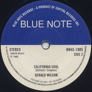 Bobby Hutcherson / Brothers Rap c/w Gerald Wilson / California Soul back