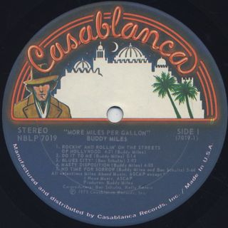 Buddy Miles / More Miles Per Gallon label