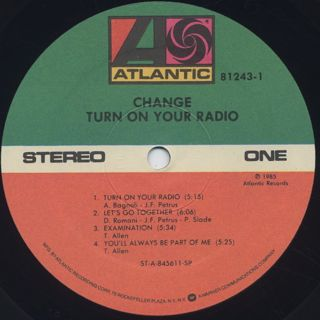 Change / Turn On Your Radio label