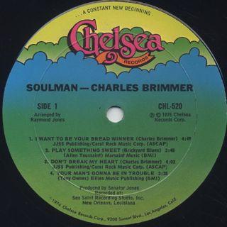 Charles Brimmer / Soul Man label