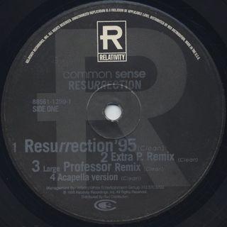 Common Sense / Resurrection label