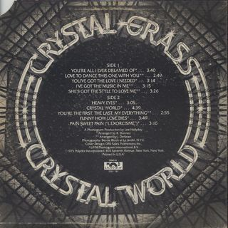 Crystal Grass / Crystal World back