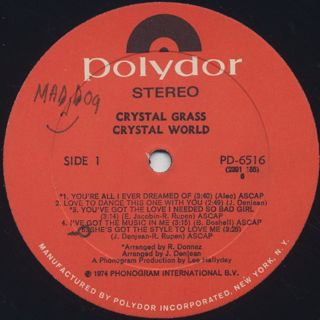 Crystal Grass / Crystal World label