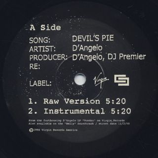 D'Angelo / Devil's Pie label