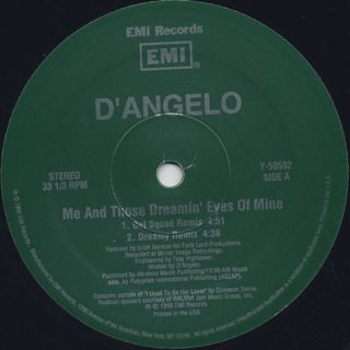 D'Angelo / Me And Those Dreamin' Eyes Of Mine back