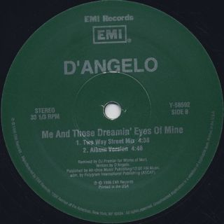 D'Angelo / Me And Those Dreamin' Eyes Of Mine label