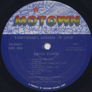 David Ruffin / Everything's Coming Up Love label